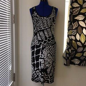 Grace Knit Island Black & White Knit Dress Sz S